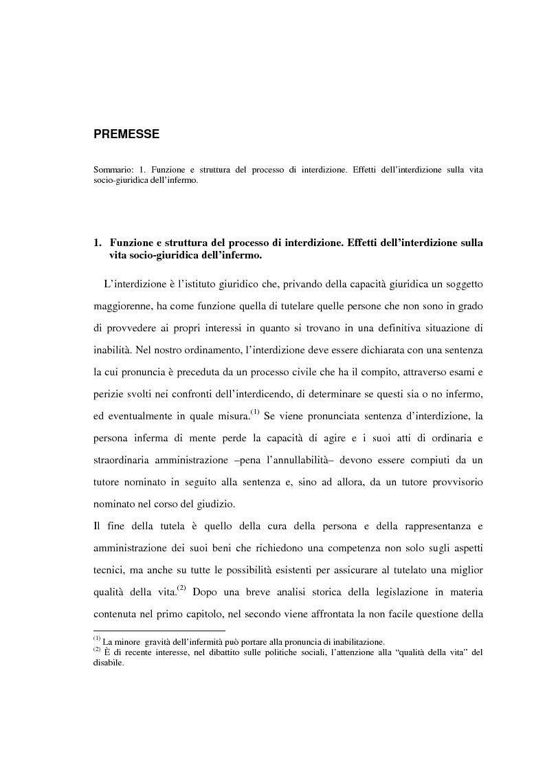 Il processo di interdizione - Tesi di Laurea