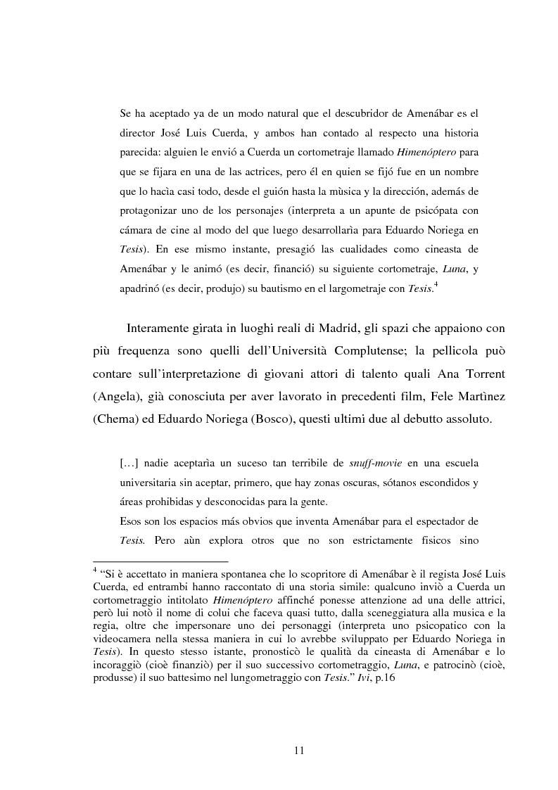 Estratto dalla tesi: L'altro cinema spagnolo: Alejandro Amenábar
