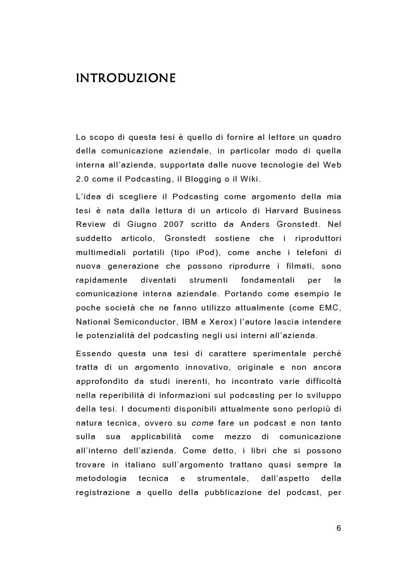 Anteprima della tesi: Il Podcasting Aziendale, Pagina 1