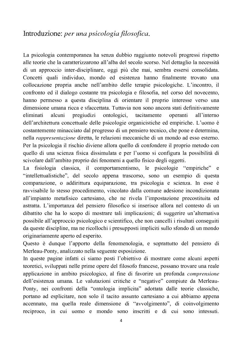 Merleau-Ponty: la forma e l'equivoco nell'uomo - Tesi di Laurea