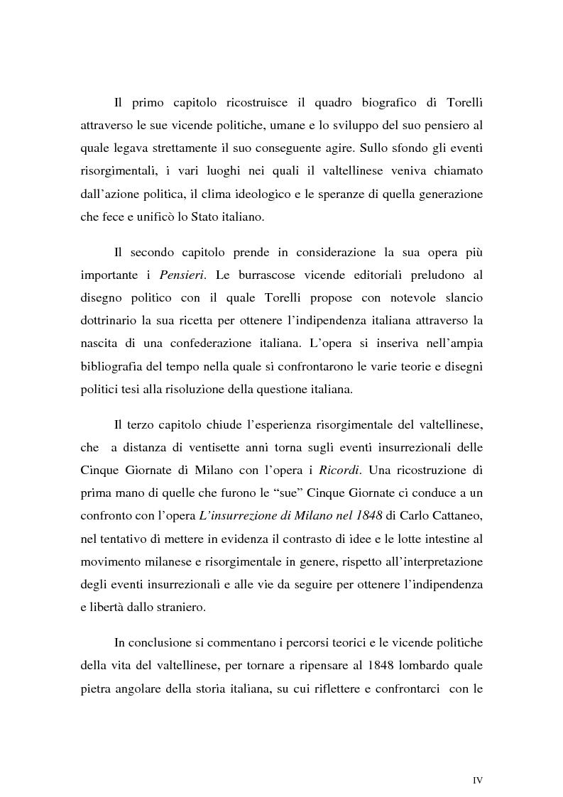Anteprima della tesi: Tra unità e confederazione. Il Risorgimento di Luigi Torelli., Pagina 2