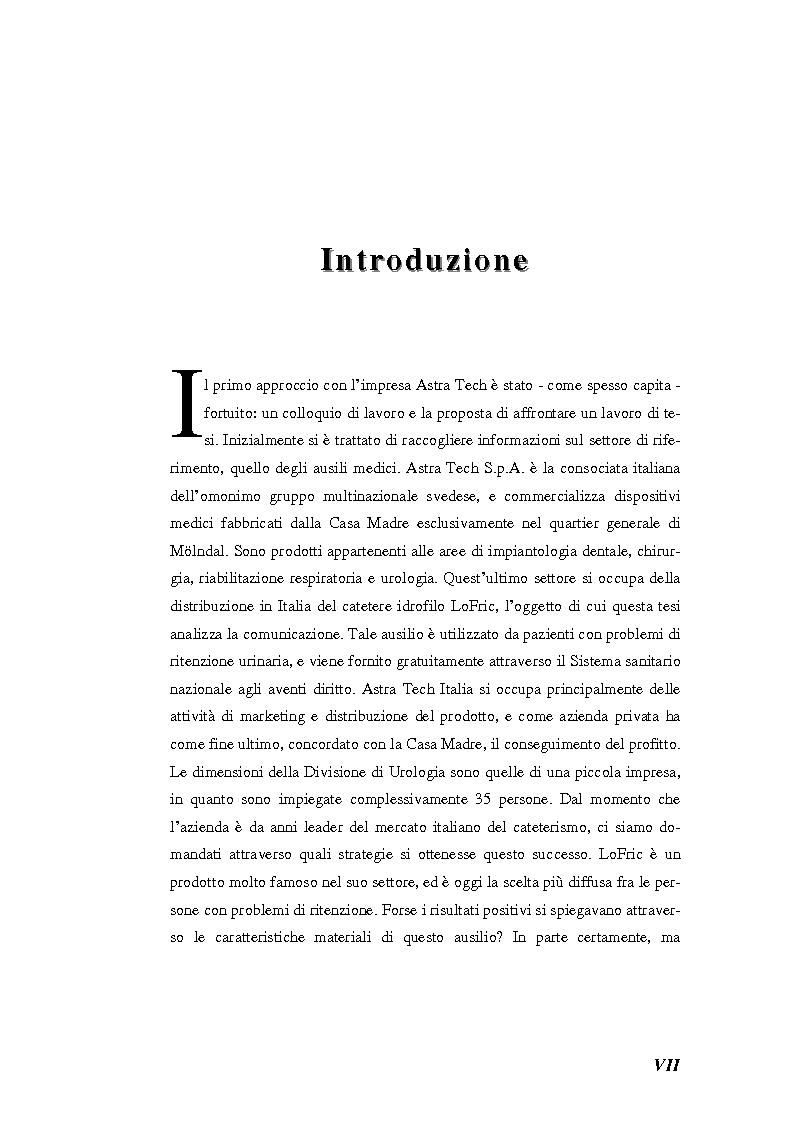 Anteprima della tesi: Marketing e comunicazione per una società del benessere. Il caso LoFric, un prodotto circondato di attenzioni, Pagina 1