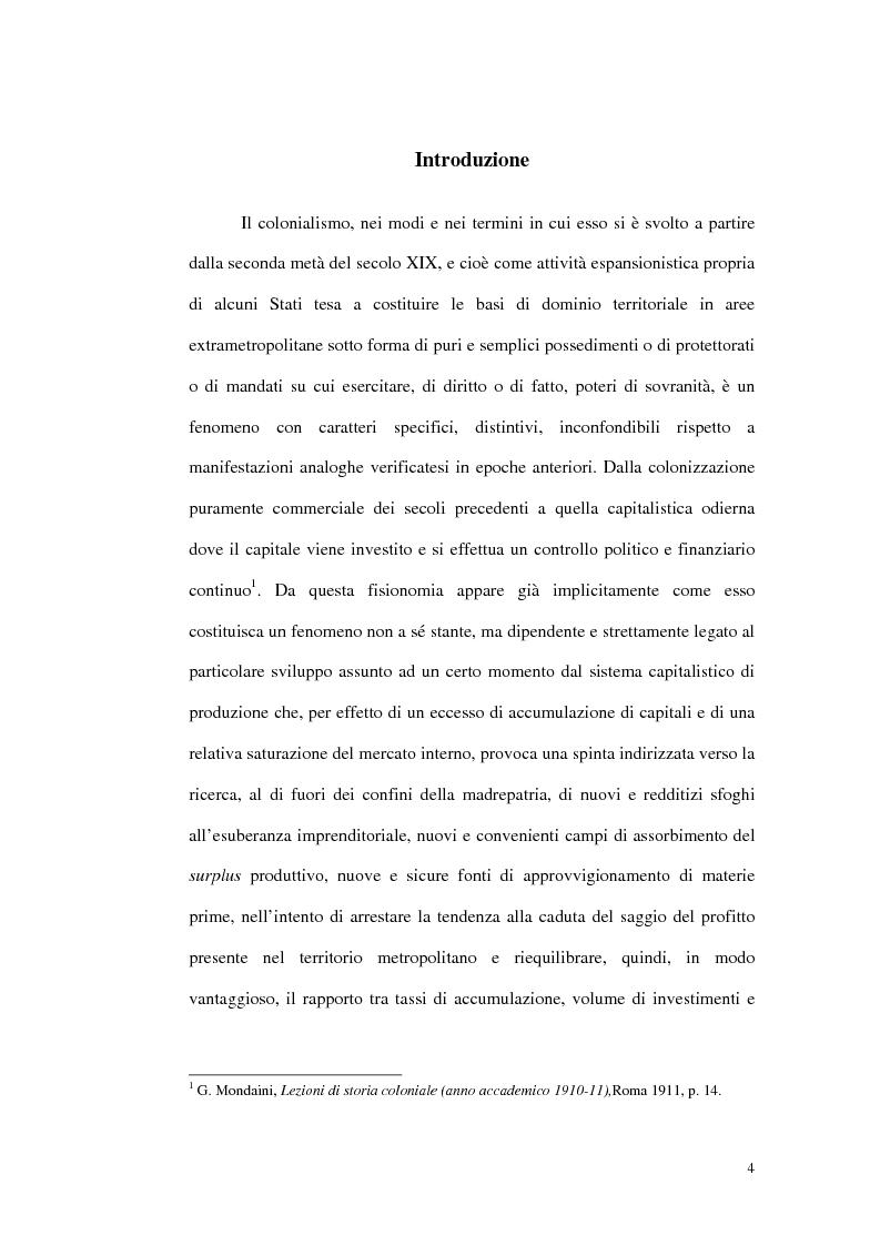 Anteprima della tesi: Colonialismo italiano: alcune riflessioni, Pagina 1
