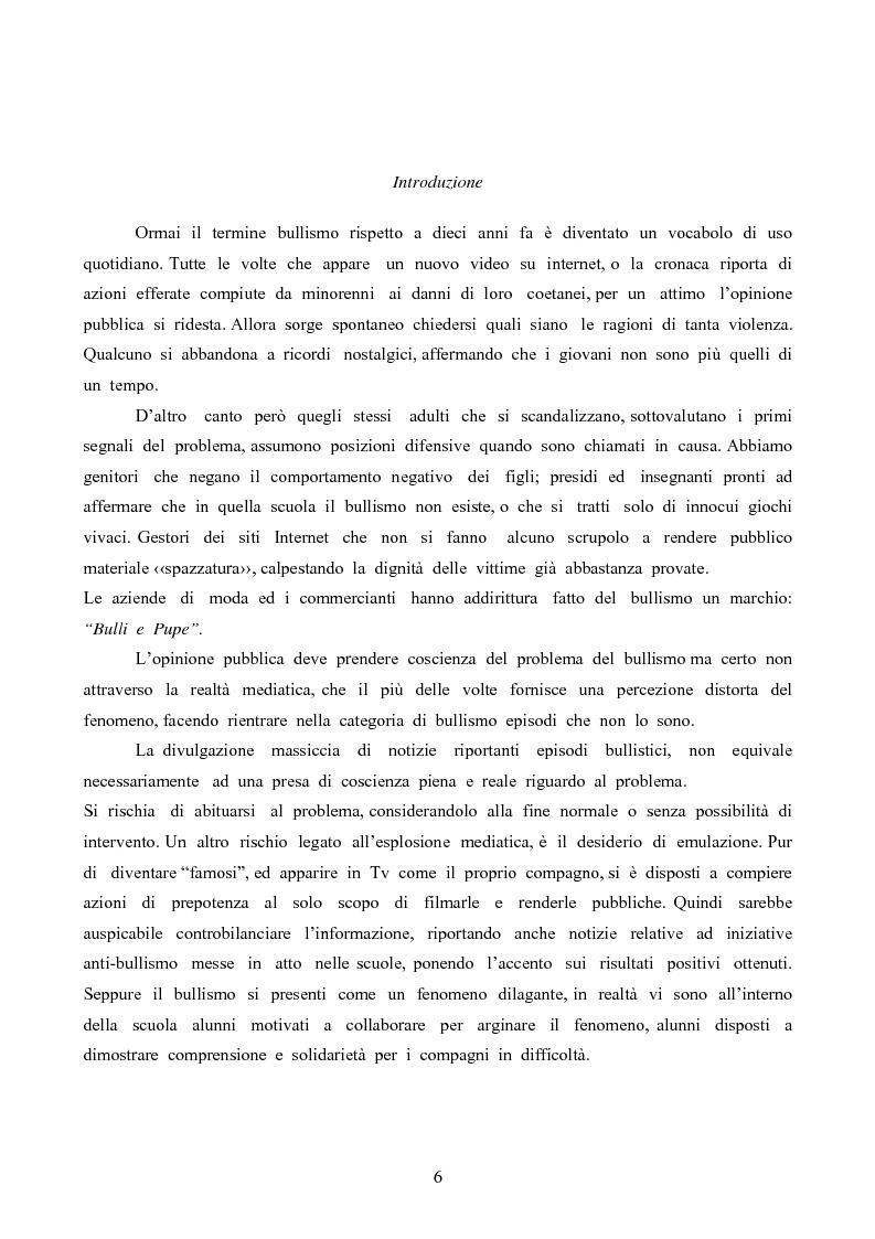 Anteprima della tesi: Bullismo: ricerche e strategie d'intervento, Pagina 1