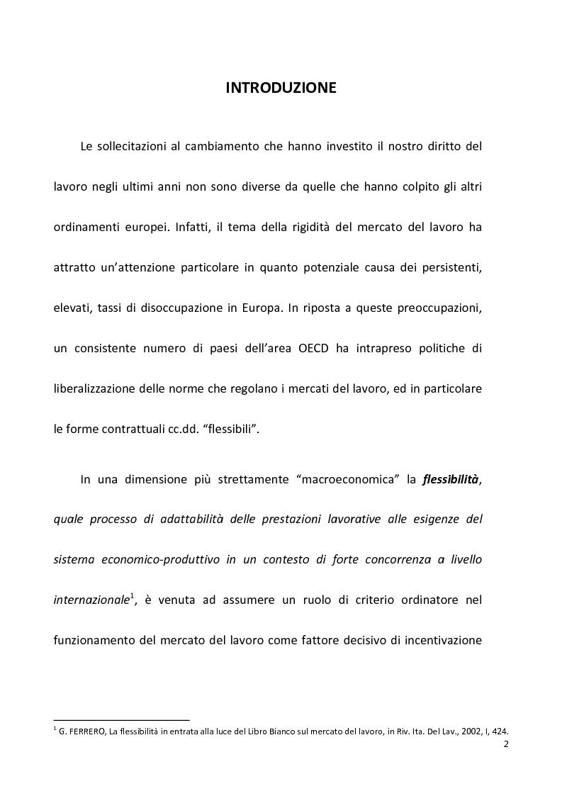 Anteprima della tesi: I licenziamenti collettivi tra flessibiltà ed effetti sociali, Pagina 1