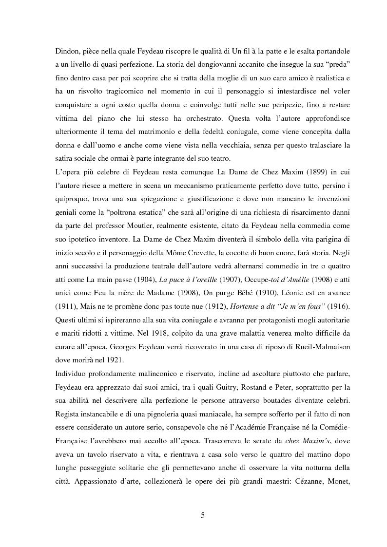 Anteprima della tesi: Le traduzioni italiane di Le Dindon di Georges Feydeau, Pagina 5