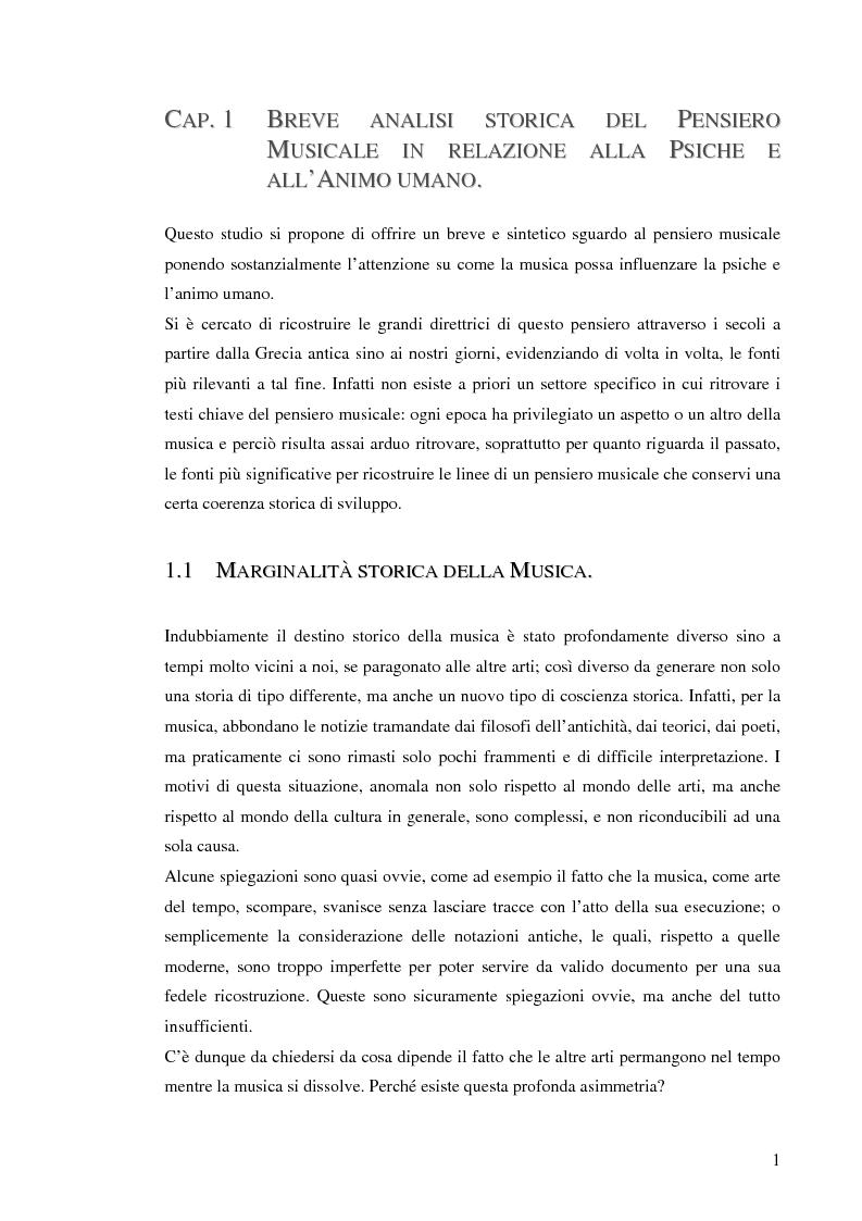 Anteprima della tesi: Emozione musicale e archetipo sonoro, Pagina 1