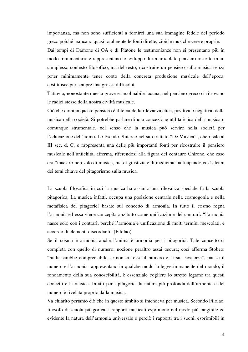 Anteprima della tesi: Emozione musicale e archetipo sonoro, Pagina 4