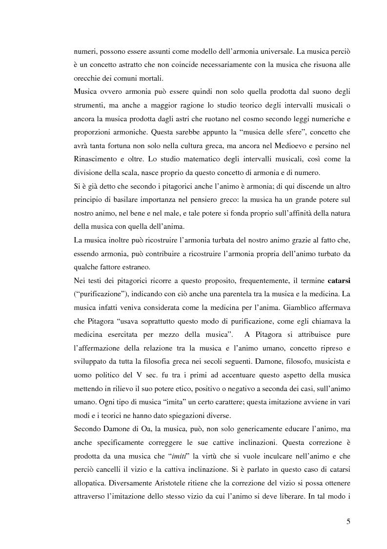 Anteprima della tesi: Emozione musicale e archetipo sonoro, Pagina 5