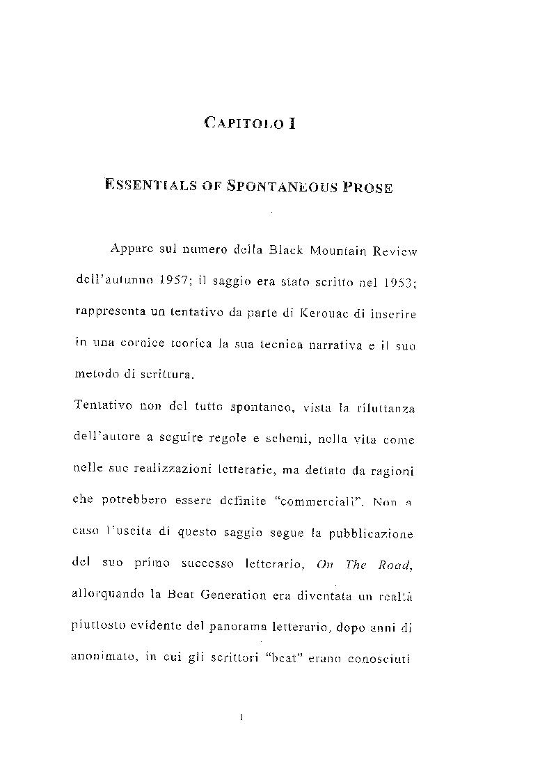 Anteprima della tesi: Jack Kerouac e il linguaggio dell'evasione, Pagina 1