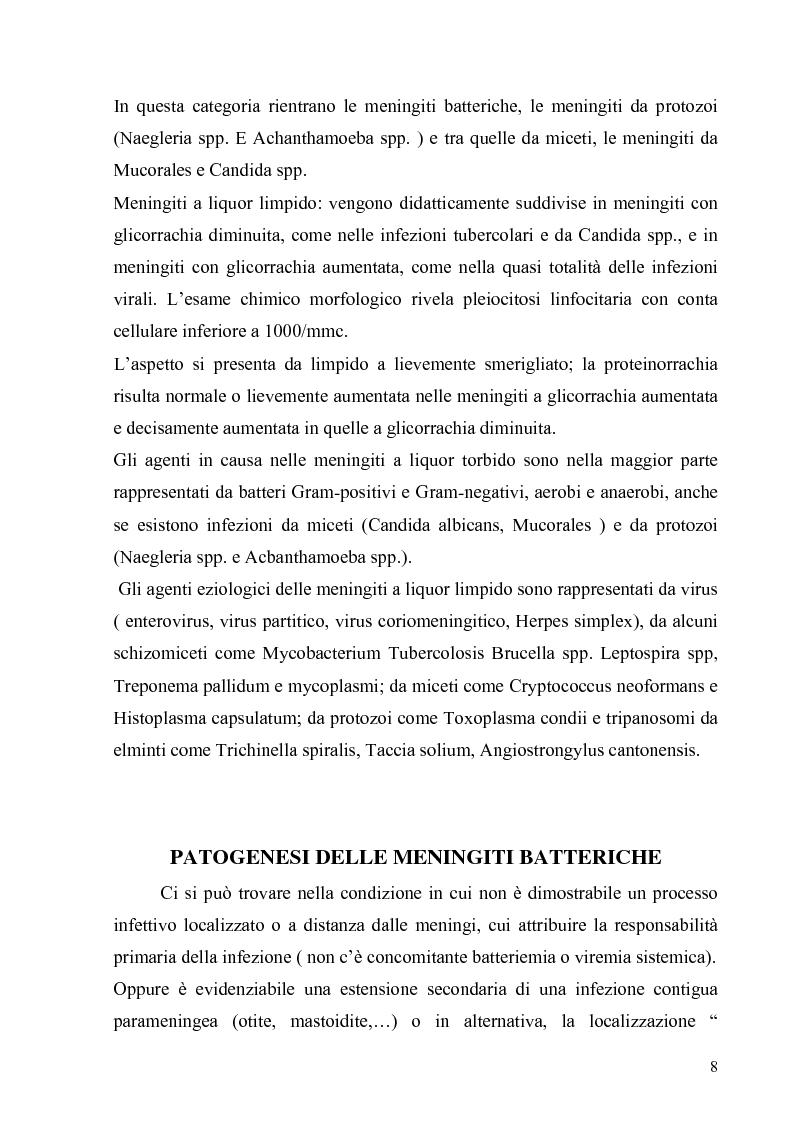 Anteprima della tesi: Meningoencefaliti: valutazioni microbiologiche ed epidemiologiche, Pagina 8