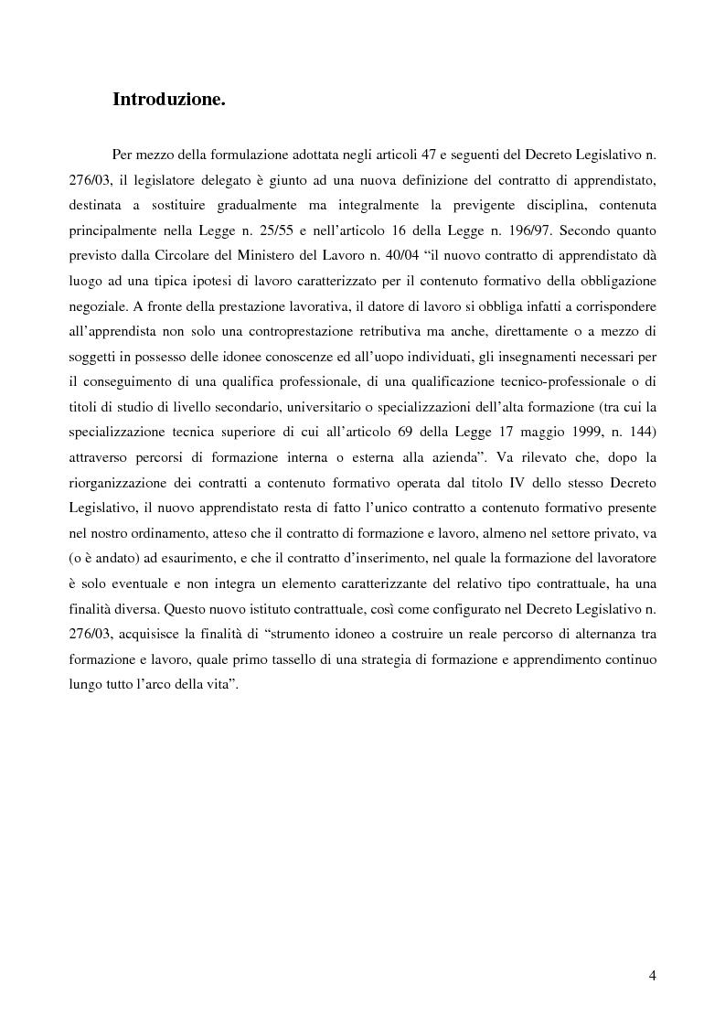 Anteprima della tesi: L'apprendistato, Pagina 1