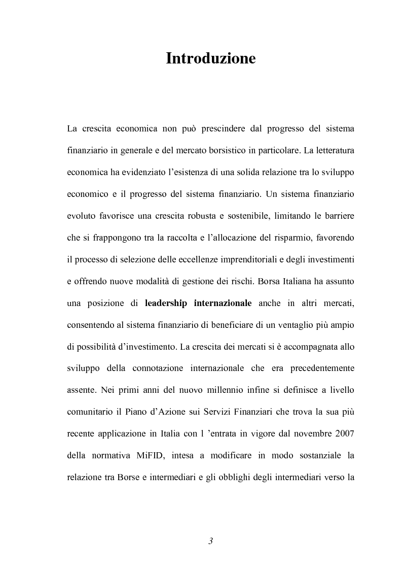 Fusione tra Borsa Italiana e London Stock Exchange - Tesi di Laurea