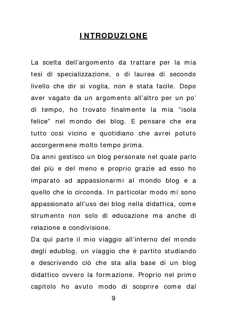 I blog nella formazione - Tesi di Laurea