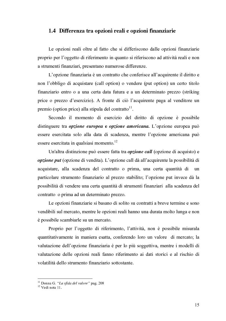 """Anteprima della tesi: La valutazione delle Opzioni Reali. Applicazione al caso """"Dronox"""", Pagina 10"""