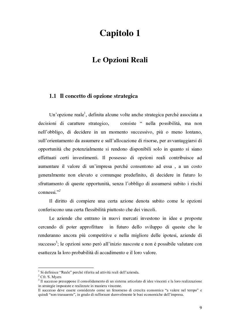 """Anteprima della tesi: La valutazione delle Opzioni Reali. Applicazione al caso """"Dronox"""", Pagina 4"""