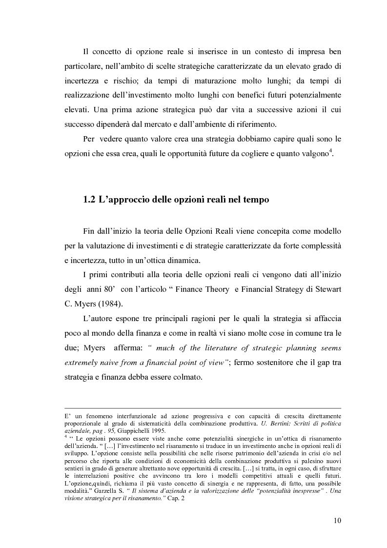 """Anteprima della tesi: La valutazione delle Opzioni Reali. Applicazione al caso """"Dronox"""", Pagina 5"""