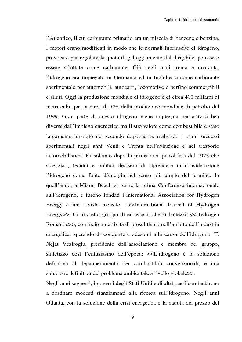 Anteprima della tesi: Idrogeno, effetti di politica economica, Pagina 7