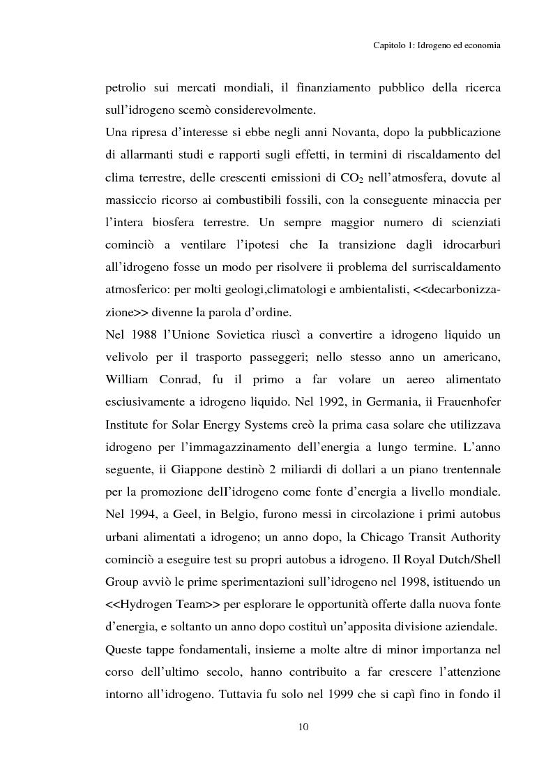 Anteprima della tesi: Idrogeno, effetti di politica economica, Pagina 8