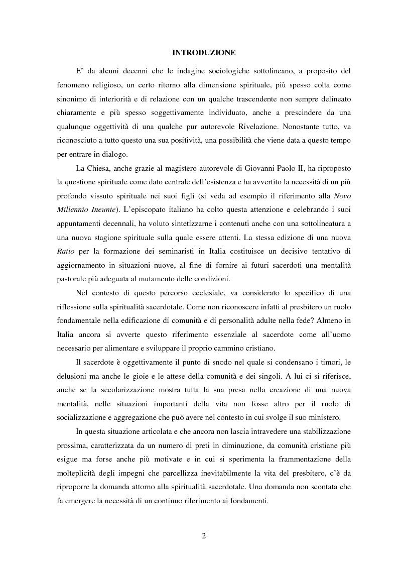 Anteprima della tesi: Vita trinitaria ed esistenza sacerdotale. Riflessione a partire dal pensiero di Klaus Hemmerle, Pagina 1