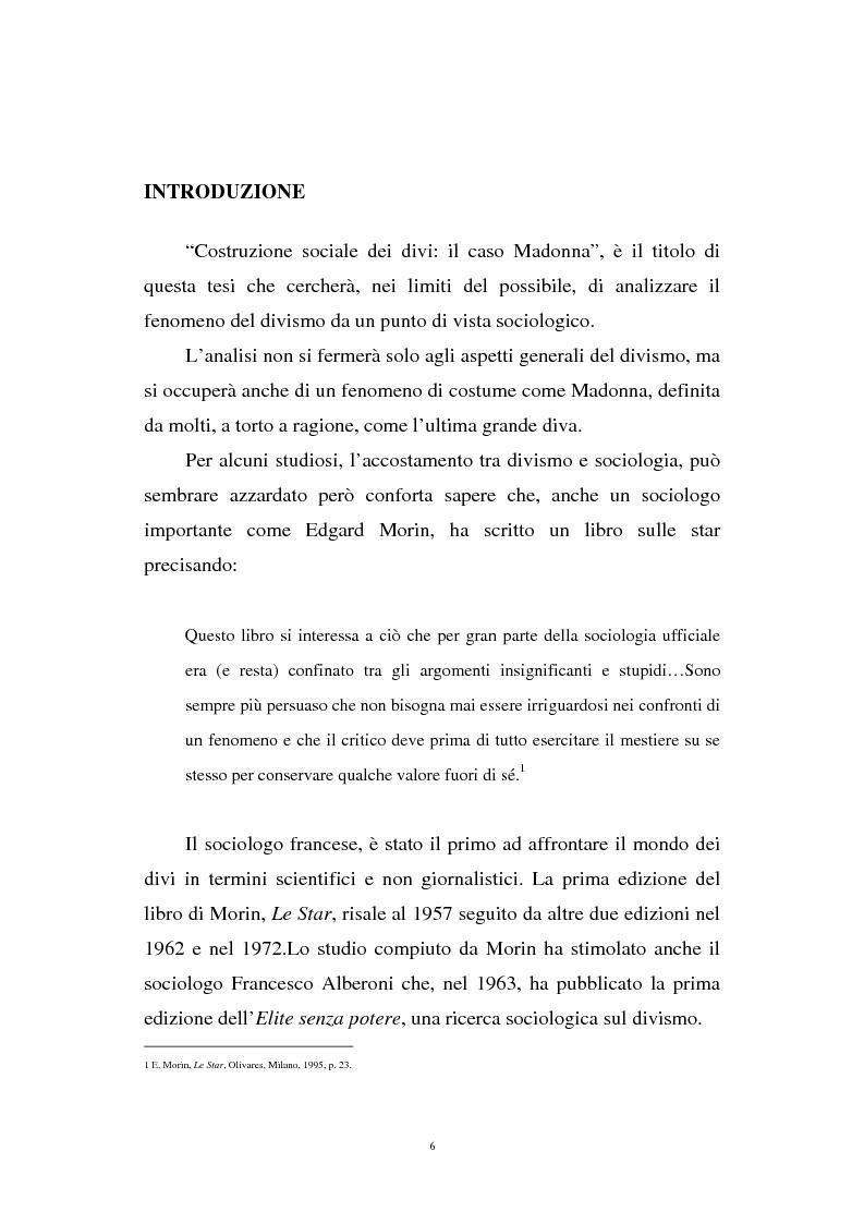 Anteprima della tesi: La costruzione sociale dei divi: il caso Madonna, Pagina 1