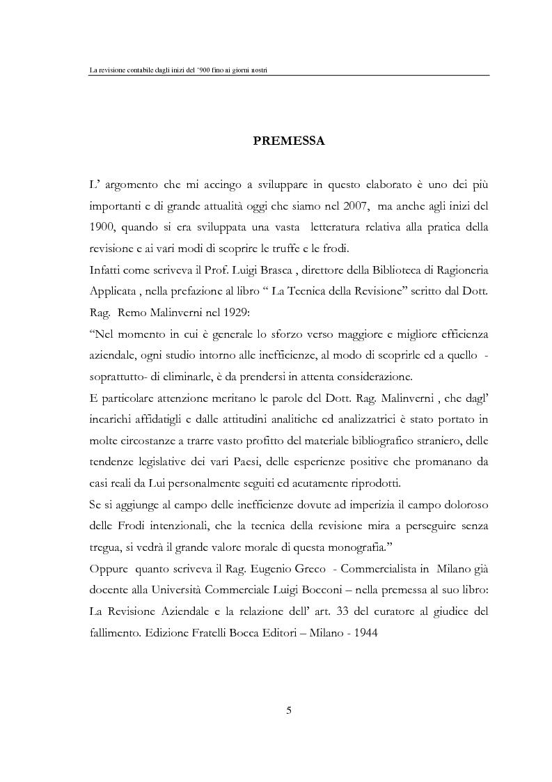 Anteprima della tesi: La revisione contabile dal '900 ad oggi, Pagina 1