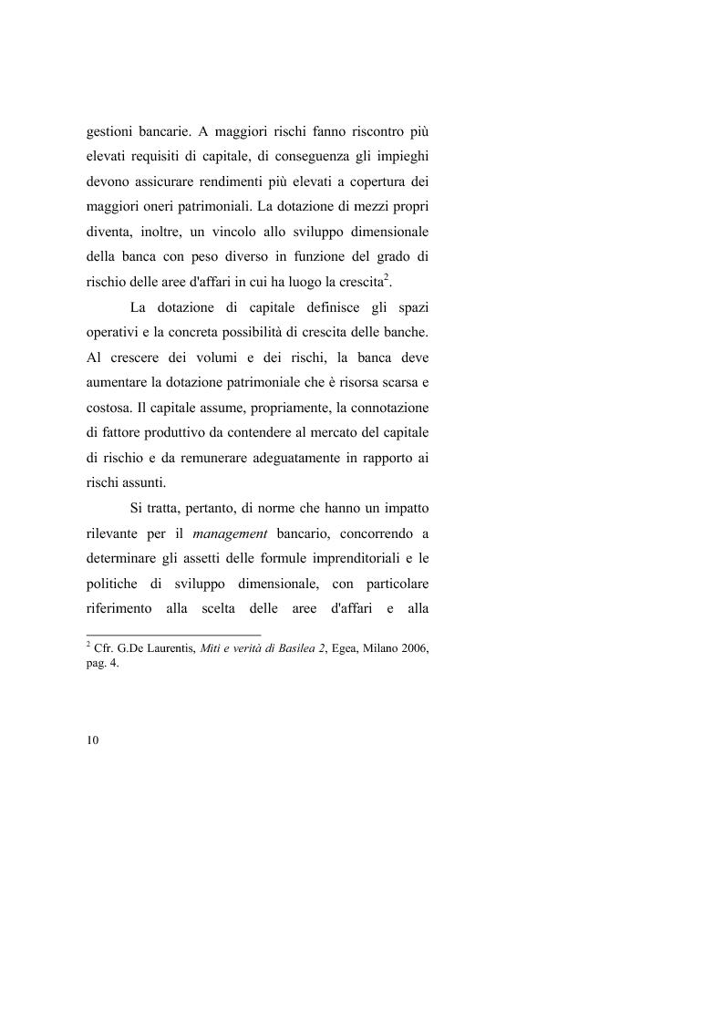 Anteprima della tesi: Le valutazioni d'azienda secondo i criteri di Basilea 2, Pagina 14