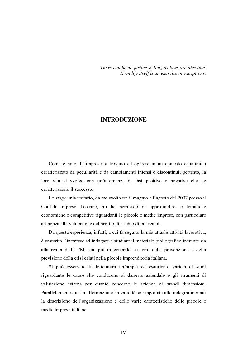 Anteprima della tesi: I modelli di scoring per la previsione della crisi delle PMI: il caso di Confidi Imprese Toscane, Pagina 1