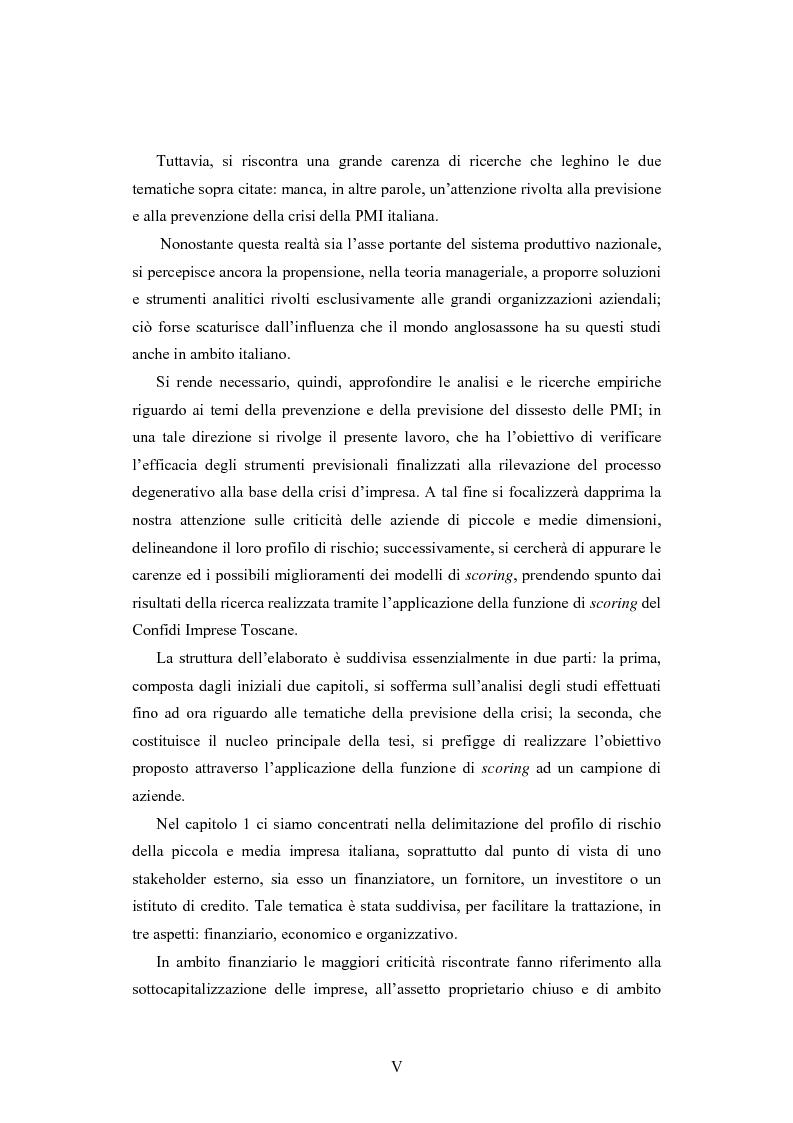 Anteprima della tesi: I modelli di scoring per la previsione della crisi delle PMI: il caso di Confidi Imprese Toscane, Pagina 2