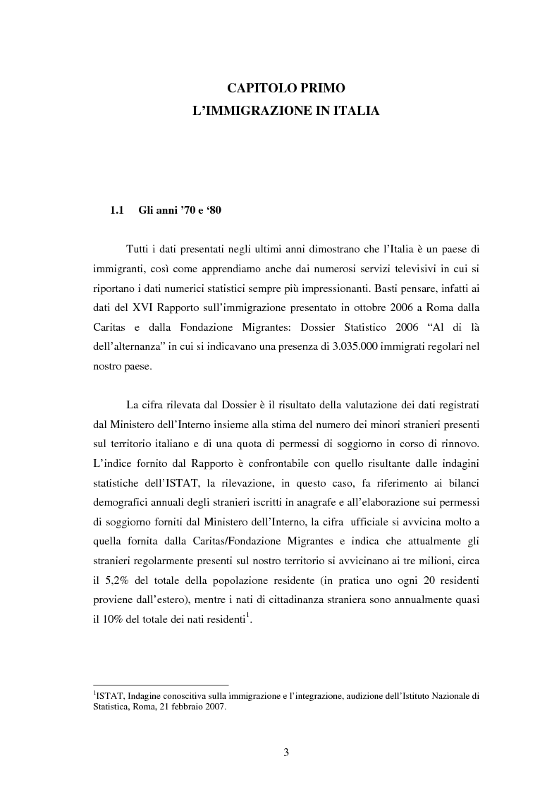 Anteprima della tesi: La piaga dell'immigrazione clandestina in Italia, Pagina 1