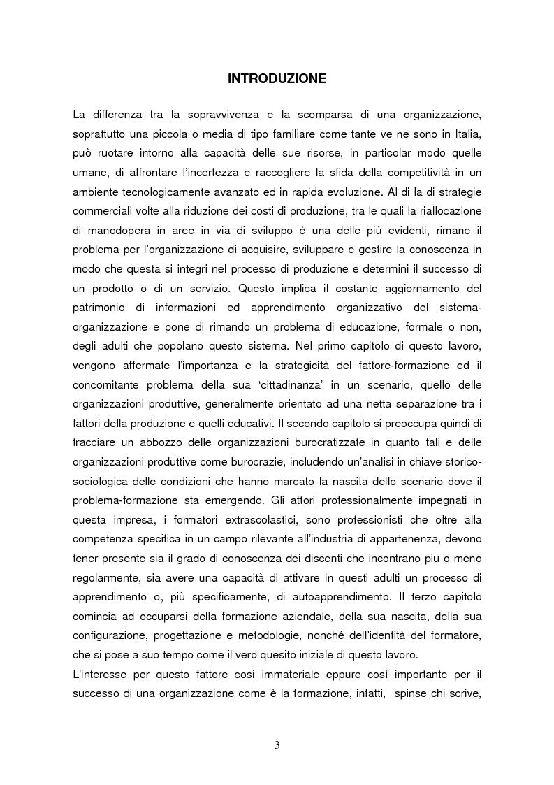 Il formatore nelle organizzazioni produttive: per una formazione pratica - Tesi di Laurea