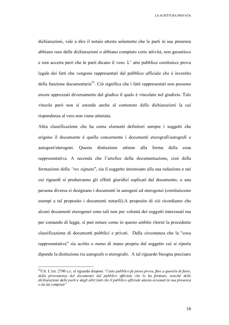Anteprima della tesi: La scrittura privata, Pagina 14