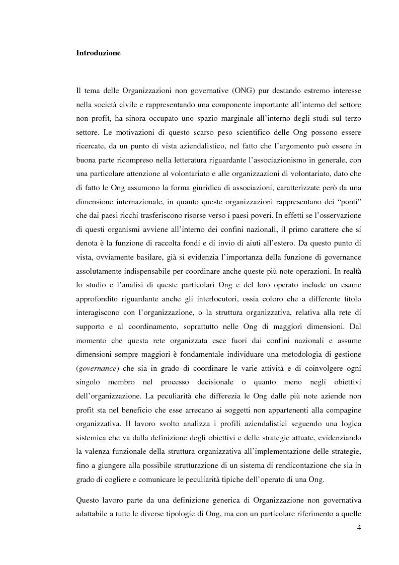 Anteprima della tesi: Le ong: obiettivi finalizzanti e profili aziendalistici - Il caso Emergency, Pagina 1