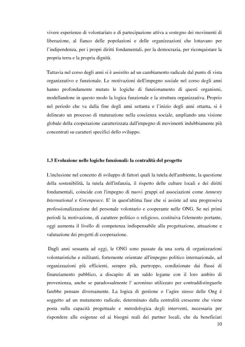 Anteprima della tesi: Le ong: obiettivi finalizzanti e profili aziendalistici - Il caso Emergency, Pagina 7