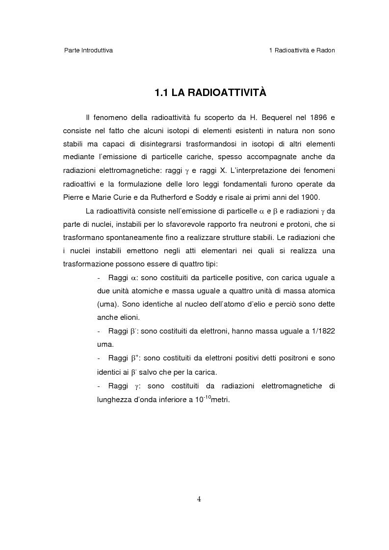 Il Radon-222 nelle civili abitazioni della Provincia di Genova: calcolo della dose assorbita e del rischio relativo. - T...