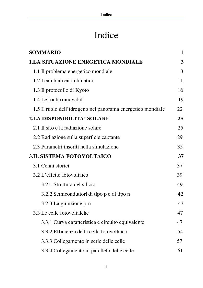 Pannello Solare Ibrido Ad Idrogeno : Modellizzazione sistema ibrido ad idrogeno solare indice