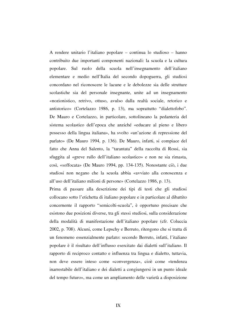 A rendere unitario l italiano popolare continua lo for Rendere il mio progetto di casa online