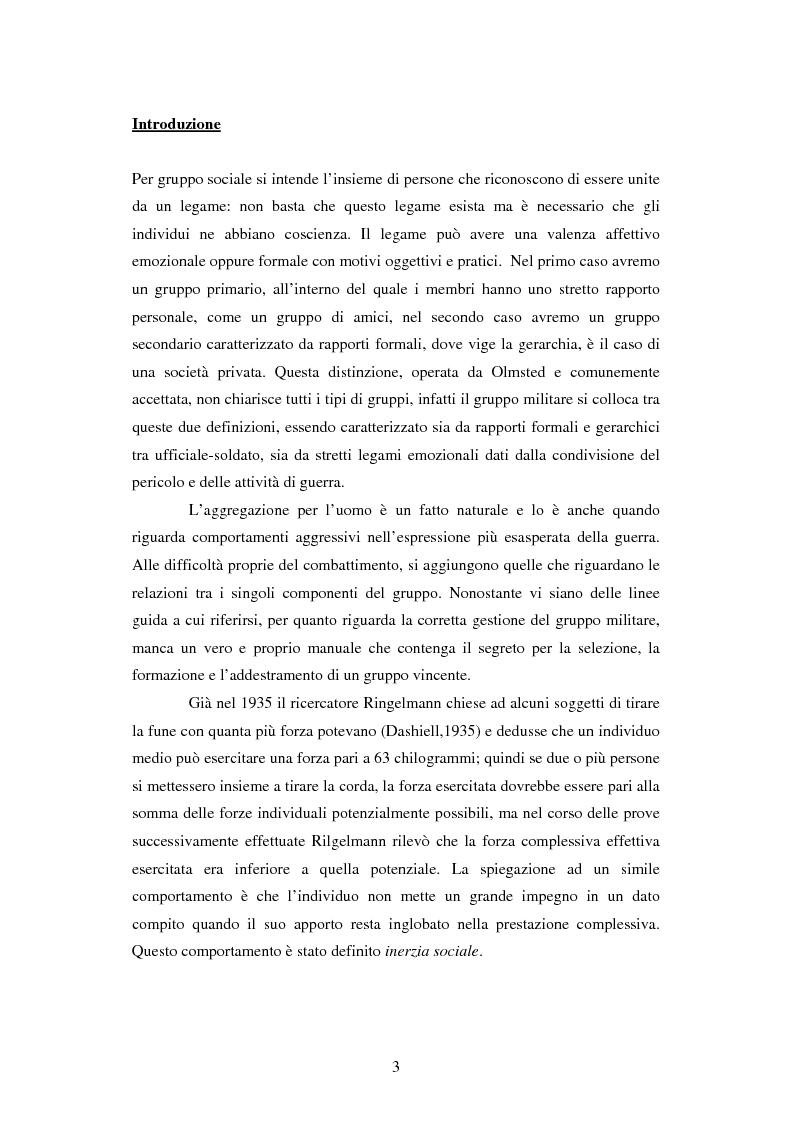 Anteprima della tesi: Il gruppo militare - Analisi grafologica del leader, Pagina 1