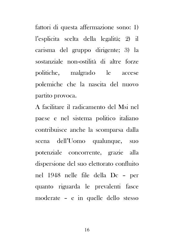 Anteprima della tesi: Dal Movimento Sociale Italiano ad Alleanza Nazionale (1989-1995), Pagina 14