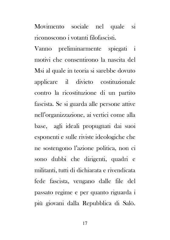 Anteprima della tesi: Dal Movimento Sociale Italiano ad Alleanza Nazionale (1989-1995), Pagina 15
