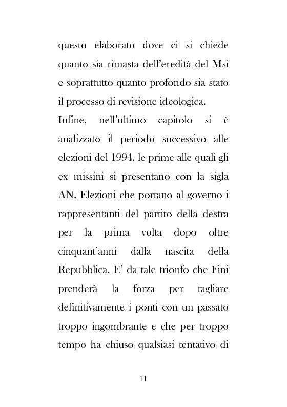 Anteprima della tesi: Dal Movimento Sociale Italiano ad Alleanza Nazionale (1989-1995), Pagina 9