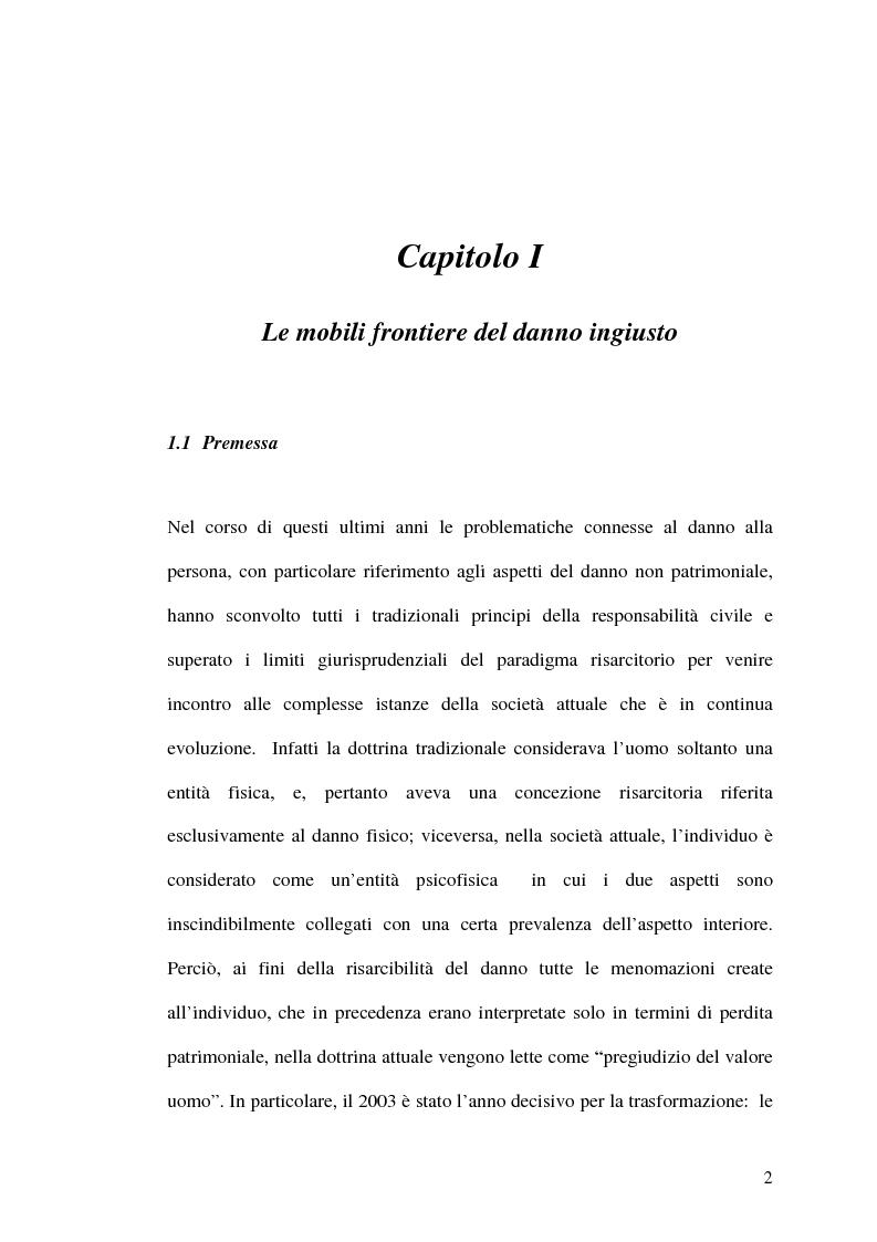 Anteprima della tesi: Profili attuali della tutela alla persona nel sistema della responsabilità civile, Pagina 1