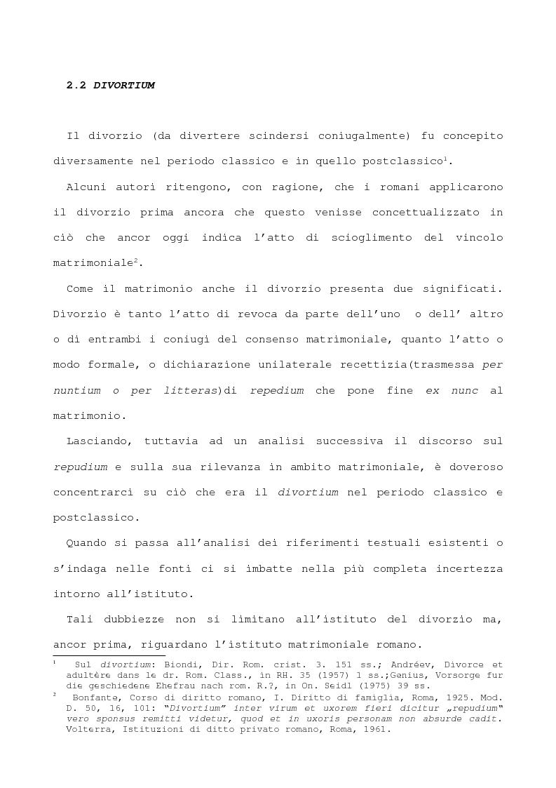 Matrimonio Diritto Romano : Il divorzio nel diritto romano tesi di laurea