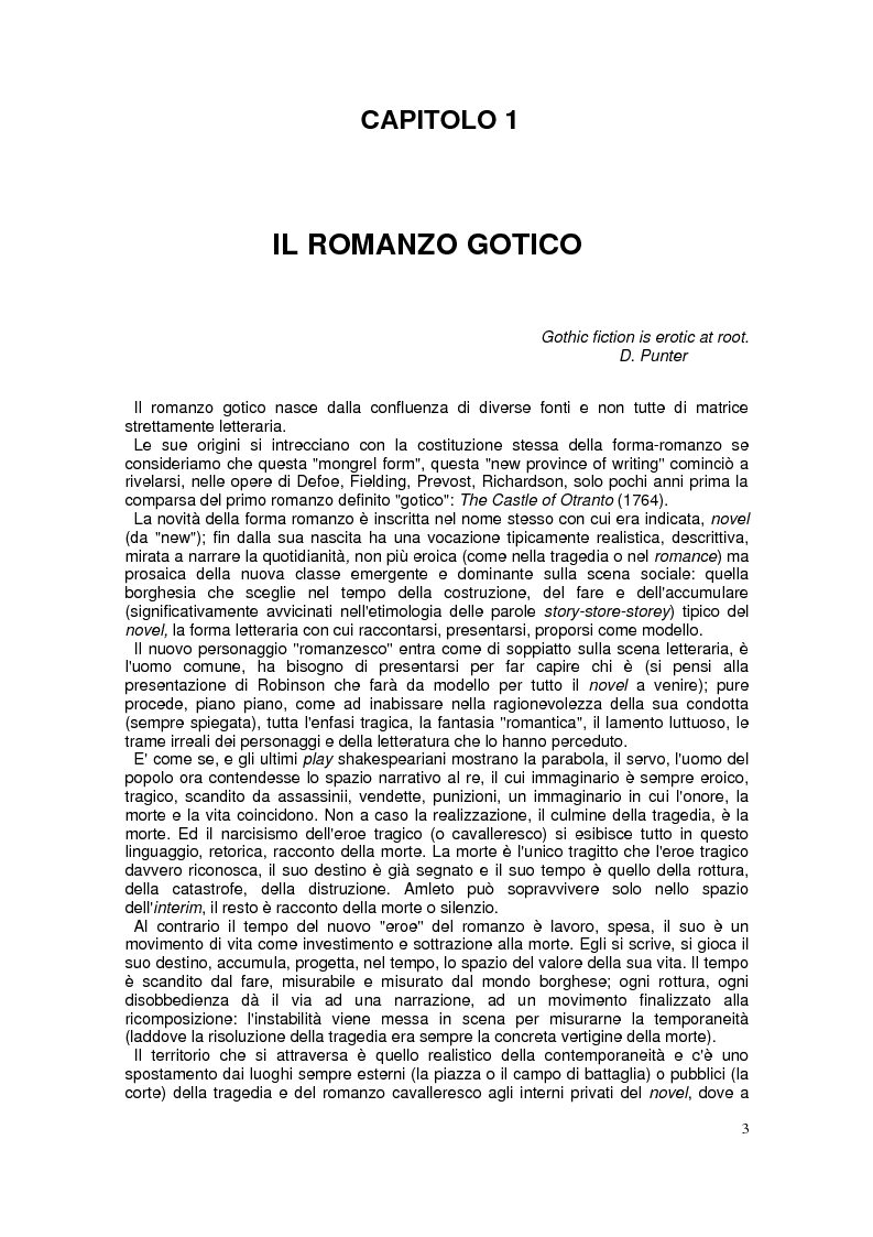 """Anteprima della tesi: """"The Monk"""". Il """"Gothic romance"""" di Matthew G. Lewis, Pagina 1"""