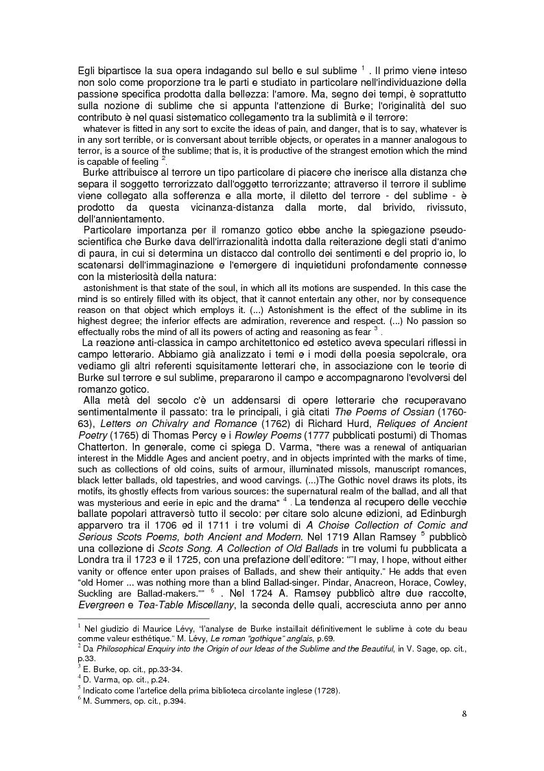 """Anteprima della tesi: """"The Monk"""". Il """"Gothic romance"""" di Matthew G. Lewis, Pagina 6"""