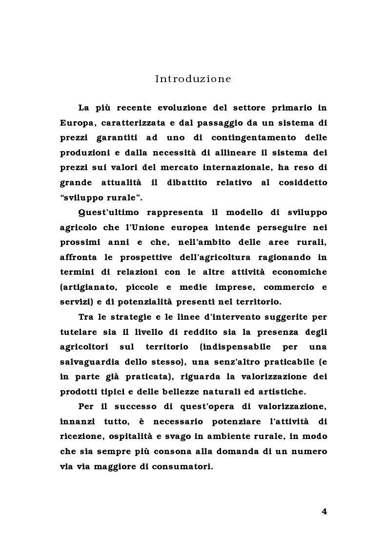 Anteprima della tesi: L'agriturismo in provincia di Parma: un'analisi comparativa, Pagina 1
