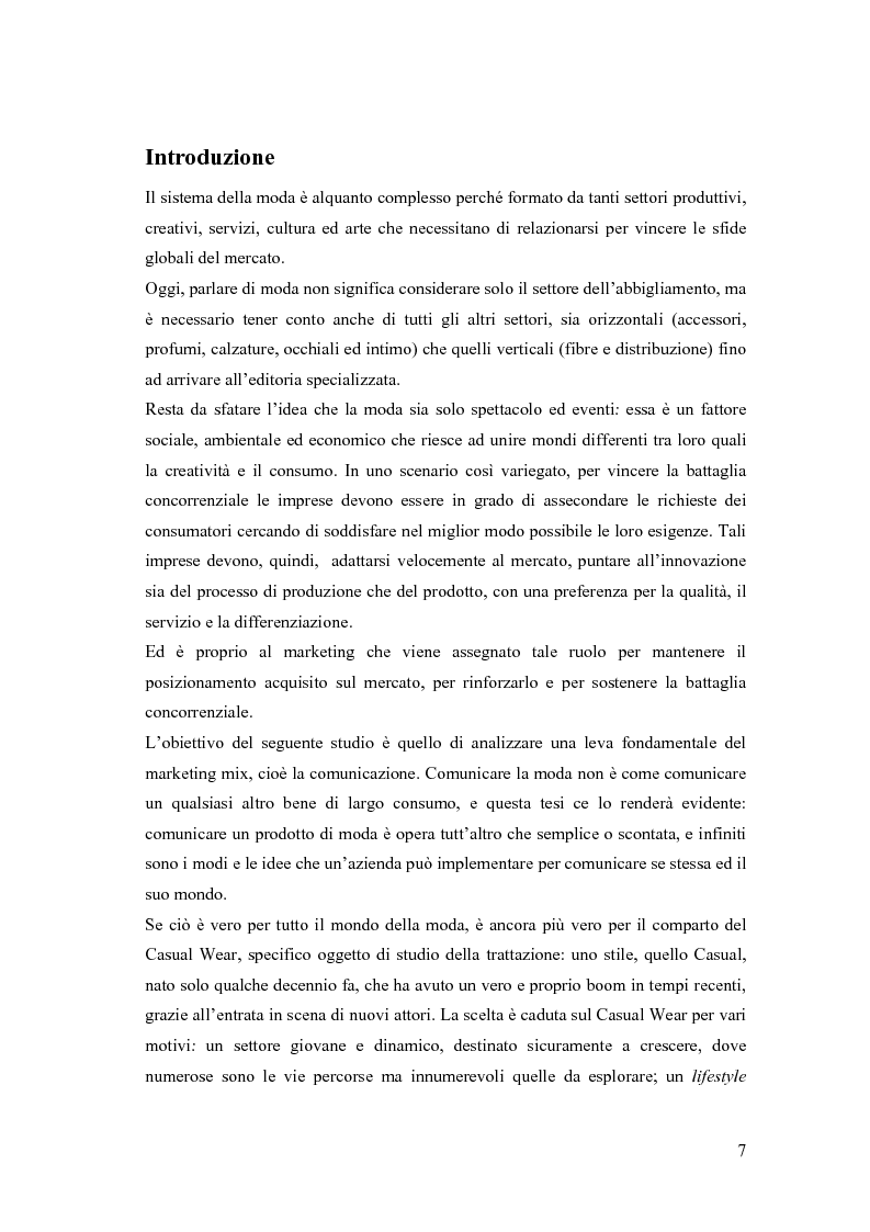 Anteprima della tesi: Il communication mix nel casual wear fashion - Le leve strategiche dei principali players: Zara, H&M, Gap, Diesel, Pagina 1