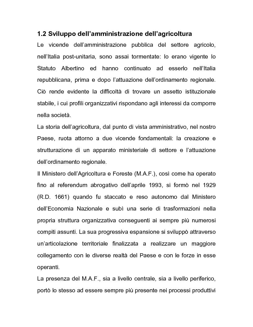 Anteprima della tesi: La regolazione amministrativa dell'agricoltura con particolare riferimento alla produzione del latte, Pagina 12