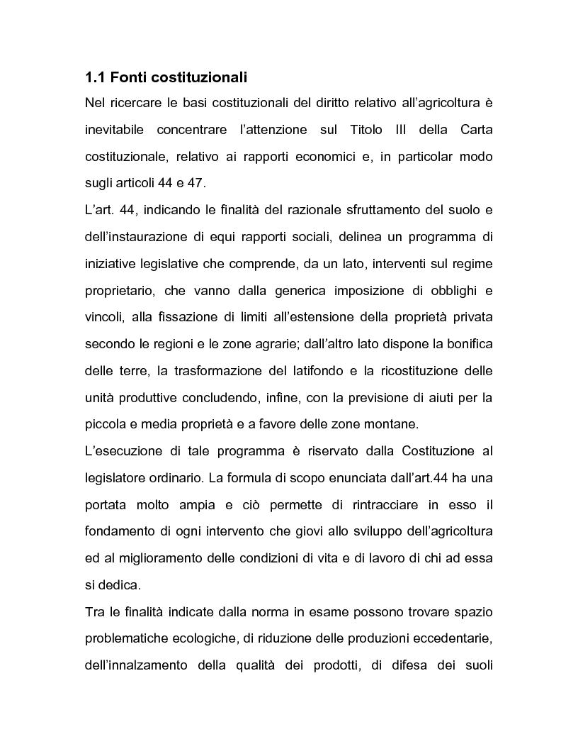 Anteprima della tesi: La regolazione amministrativa dell'agricoltura con particolare riferimento alla produzione del latte, Pagina 5