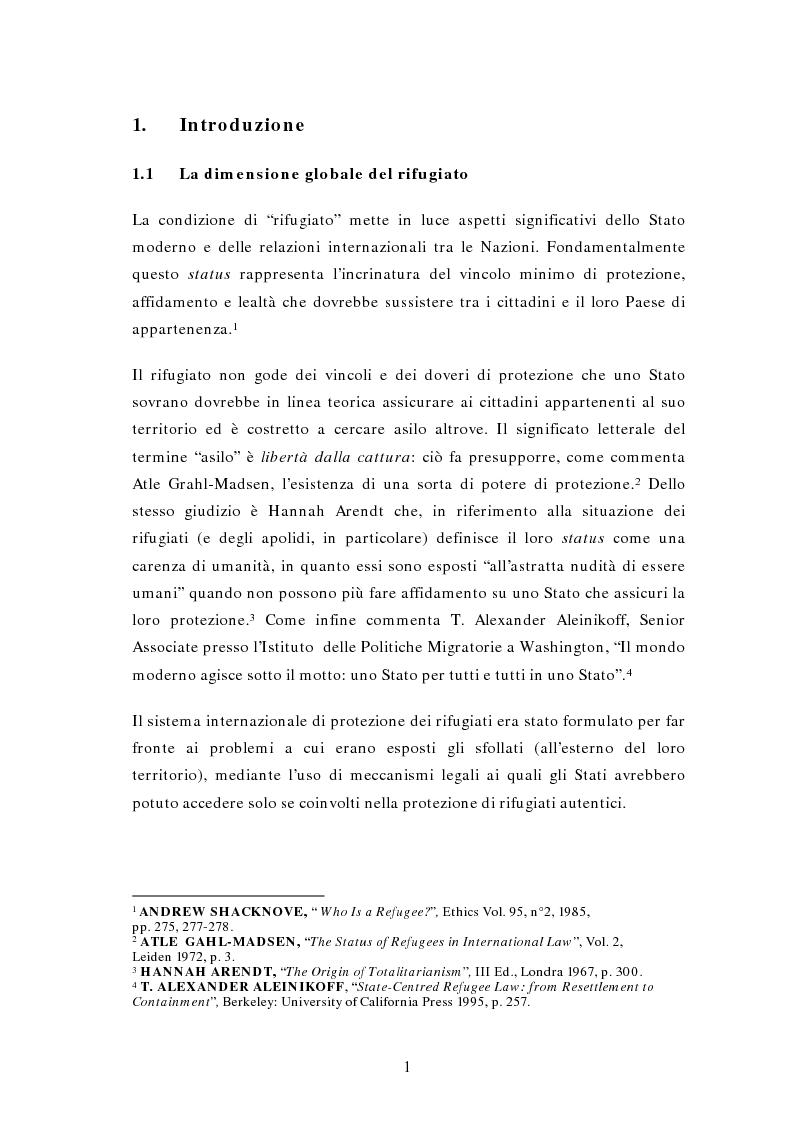 Anteprima della tesi: La questione di rifugiati e sfollati al confine tra Thailandia e Birmania: profili di Diritto Internazionale, Pagina 1